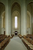 Interior of Grundtvig Kirke church.  Copenhagen, Denmark.