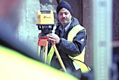 Surveying. Using a EDM Laser Level.