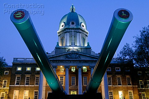 Imperial War Museum at night London United Kingdom
