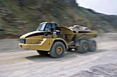 Caterpillar articulated dumper truck.