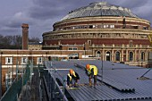 Roofing adjacent to the Royal Albert Hall. London, United Kingdom.