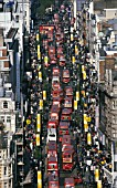Traffic jam in Oxford Street. London, United Kingdom.