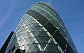 Swiss Re building, The Gherkin, City of London, United Kingdom. Designed by Norman Foster and Partners