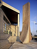 Large scale timber sculpture. Civic Offices, Republic of Ireland.
