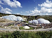 Eden Project. Bodelva, St Austell, Cornwall, United Kingdom. Designed by Nicholas Grimshaw and Partners.
