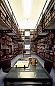 Rare book library at Newnham College library. Cambridge, UK.