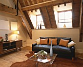 Private home, loft conversion interior of a modern house.