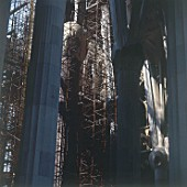 Construction of interior tree Columns. Sagrada Familia Cathedral, designed by Antoni Gaudi. Barcelona, Catalunya, Spain.