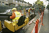 No-dig directional drilling for gas pipe installation, England, UK