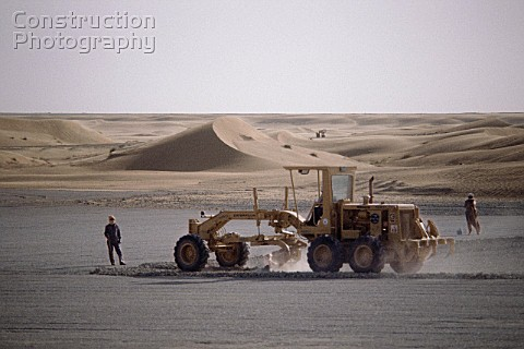 Construction of runway for Al Ayn airport in Dubai United Arab Emirates