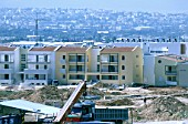 Construction finishing for the Olympic village in Athens, Greece. The complex is to be social housing as part of development of north Athens.