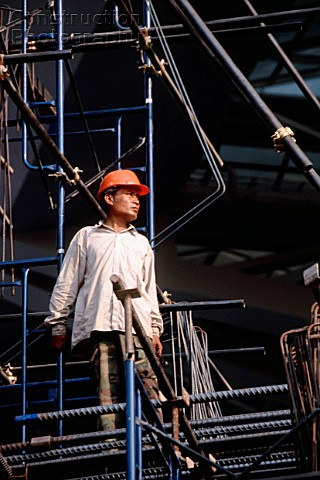 Thai worker on construction site