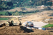 Earthworks on the new A41 project, near Annecy, Rhones Alps, France