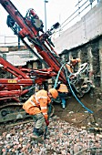 Fixing the reinforcement for foundation anchor, Snow Hill development, Birmingham, UK