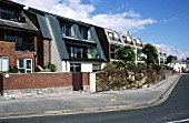 Seaside apartments, Poole, Dorset, UK