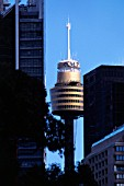Cable supported AMP TV tower in Sydney, NSW, Australia