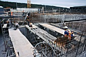 Calgary wastewater scheme - setting out formwork for main tanks