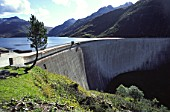 Santa Maria dam near Sedrun in the Swiss Alps