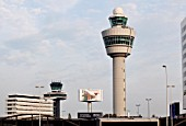 Control towers at Schipol airport, Amersterdam.