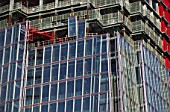 The Shard during construction. London, UK.