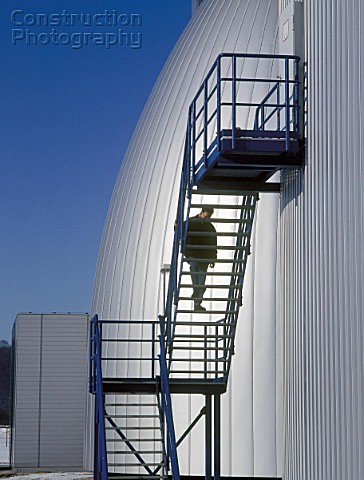 Biological fermentation tank at sewage farm and water purification plant Gera Germany