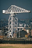 Harbour Crane. John Brown shipyards. Glasgow, Scotland. United Kingdom.