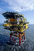 Mobil Lancelot A Gas production platform. Southern North Sea.