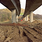 M20 / A20 viaduct. Roundhill, Kent, United Kingdom.
