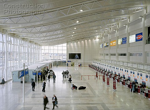 Concourse of Liverpool John Lennon Airport Terminal Building Liverpool United Kingdom