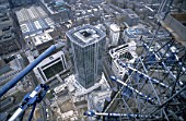 Aerial view of the top of Tower 42, City of London
