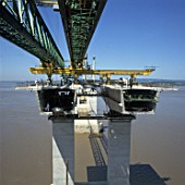 Construction of the Second Severn Crossing.