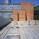 Wooden and lead roof deck of St Barnabas Church, Dulwich, South London, UK.