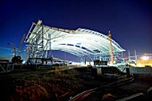 Construction of Terminal Five, Heathrow Airport, London, UK.
