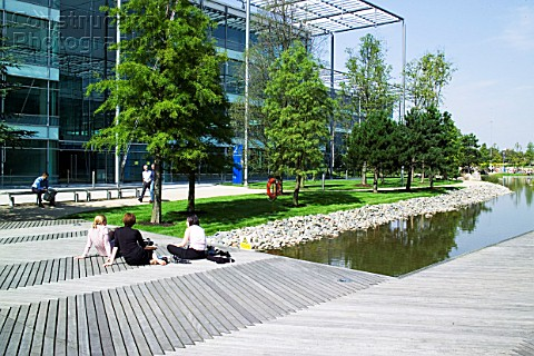 Chiswick Business Park interior London UK Designed by Richard Rogers Chiswick Business Park is a new