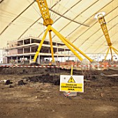 Construction of Millennium Dome, Greenwich, London, UK, interior