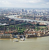 Greenwich, London, UK, aerial view