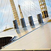 Ventilation units and roof supports and roof for the Millennium Dome, Greenwich, London, UK