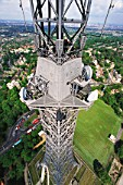 View from the top of Crystal Palace telecommunications tower, South London, UK