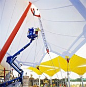 Construction of the Ashford Designer Outlet, Kent, UK