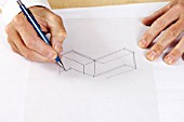 Architects sketching drawing