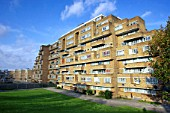 Dawson Heights Council houses, East Dulwich, Borough of Southwark, London. UK. The estate was completed in 1972 and was meant to be inspired by a great ship or an Inca temple!