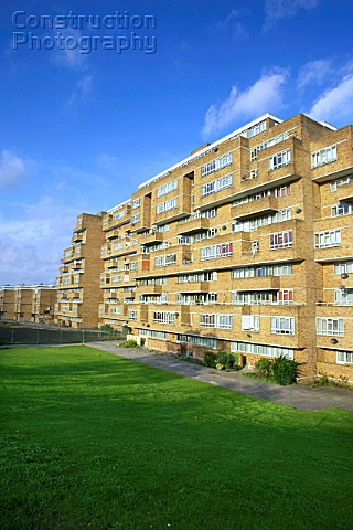 Dawson Heights Council houses East Dulwich Borough of Southwark London UK The estate was completed i