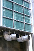 Exhaust ventilation system, office building.