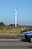 Wind turbine generating energy for the M25 services