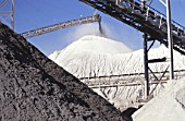 Sand and gravel extraction, Quarry, Indiana, USA