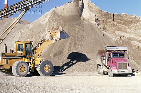 Sand and gravel extraction Quarry Indiana USA