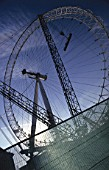 London Eye, The Millennium Wheel under construction, central London, UK