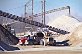 Sand and gravel extraction, Quarry, Indiana, USA.