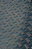 Detail of steel checkerplate.