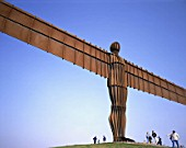 20m high, 54m wide Angel of the North scuplture, designed by Antony Gormley. Gateshead, United Kingdom.